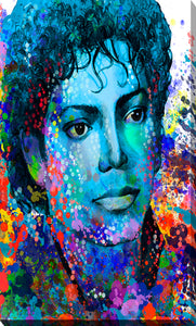 "Giclee Stretched Canvas Wall Art by Bekim Mehovic ""Michael Jackson XIV"", All Canvas Art,All Subjects,Celebrities,All Colors,All Shapes,All Artists,multi-color art,Portrait Shape,Bekim Mehovic"