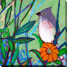 "Giclee Stretched Canvas Wall Art by Jennifer Lommers ""Bird XIV"", All Canavs Art,Floral,All Colors,All Shapes,All Artists,green art,Square Shape,Jennifer Lommers"