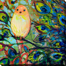 "Giclee Stretched Canvas Wall Art by Jennifer Lommers ""Bird XXI"", All Canavs Art,Floral,All Colors,All Shapes,All Artists,multi-color art,Square Shape,Jennifer Lommers"