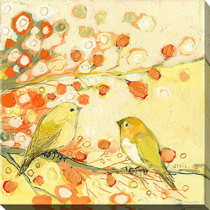 "Wall Art by Jennifer Lommers ""The Conversation"", All Canavs Art,Floral,All Colors,All Shapes,All Artists,yellow art,Square Shape,Jennifer Lommers"
