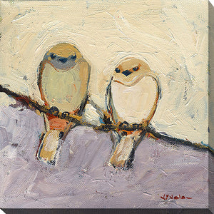 "Wall Art by Jennifer Lommers ""Unspoken Bond"", All Canavs Art,Floral,All Colors,All Shapes,All Artists,beige art,Square Shape,Jennifer Lommers"