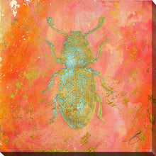 "Wall Art by Working Girls Design ""Beetle Bug"", All Canvas Art,All Subjects,Animals,All Colors,All Shapes,All Artists,orange art,Square Shape,BY Jodi"
