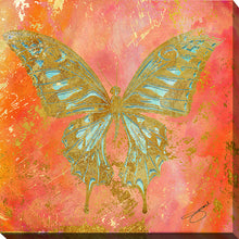 "Wall Art by Working Girls Design ""Butterfly"", All Canvas Art,All Subjects,Animals,All Colors,All Shapes,All Artists,orange art,Square Shape,BY Jodi"