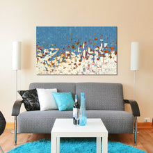 "Giclee Stretched Canvas Wall Art by Mark Lawrence ""Angels Desire To Look Into. 1 Peter 1:12"",Canvas Art,Abstract,Mark Lawrence,All Artists,blue art,Landscape Shape"