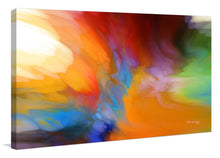"Giclee Stretched Canvas Wall Art by Mark Lawrence ""Job 22:21. Acquaint Yourself With Him"",Canvas Art,Abstract,Mark Lawrence,All Artists,multi-color art,Landscape Shape"