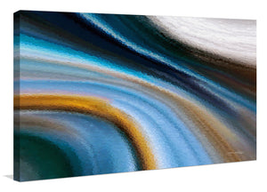 "Giclee Stretched Canvas Wall Art by Mark Lawrence ""Eternal Life. John 17:3"" Rectangle Art,Canvas Art,Abstract,Mark Lawrence,All Artists,blue art,Landscape Shape"
