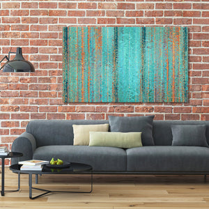 "Giclee Stretched Canvas Wall Art by Mark Lawrence ""I Will By No Means Cast Out. John 6:37"",Canvas Art,Abstract,Mark Lawrence,All Artists,green art,Landscape Shape"