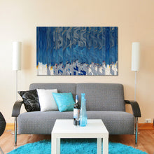 "Giclee Stretched Canvas Wall Art by Mark Lawrence ""Why Are You Fearful? Matthew 8:26"",Canvas Art,Abstract,Mark Lawrence,All Artists,blue art,Landscape Shape"