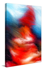 "Giclee Stretched Canvas Wall Art by Mark Lawrence ""I Will Walk Through The Valley If You Want Me To. Psalms 23:4"",Canvas Art,Abstract,Mark Lawrence,All Artists,red art,Portrait Shape"