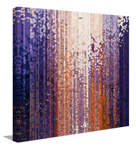 "Giclee Stretched Canvas Wall Art by Mark Lawrence ""The Veil Is Taken Away. 2 Corinthians 3:16"",Canvas Art,Abstract,Mark Lawrence,All Artists,purple art,Square Shape"