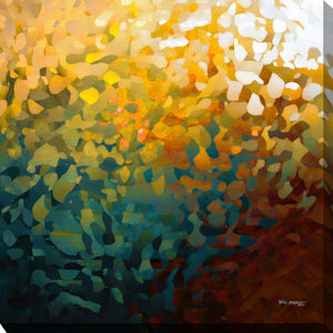 "Giclee Stretched Canvas Wall Art by Mark Lawrence ""When Our Life Appears. Colossians 3:4"",Canvas Art,Abstract,Mark Lawrence,All Artists,yellow art,Square Shape"