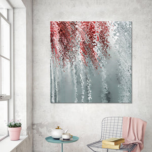 "Giclee Stretched Canvas Wall Art by Mark Lawrence ""Answer In Grace. Colossians 4:6"",Canvas Art,Abstract,Mark Lawrence,All Artists,gray art,Square Shape"