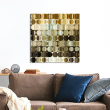 "Giclee Stretched Canvas Wall Art by Mark Lawrence ""Circles and Squares 41."",Canvas Art,Abstract,Mark Lawrence,All Artists,brown art,Square Shape"