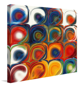 "Giclee Stretched Canvas Wall Art by Mark Lawrence ""Circles and Squares 43"",Canvas Art,Abstract,Mark Lawrence,All Artists,multi-color art,Square Shape"