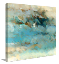 "Giclee Stretched Canvas Wall Art by Mark Lawrence ""Chasing After The Wind. Ecclesiastes 1:14"",Canvas Art,Abstract,Mark Lawrence,All Artists,blue art,Square Shape"