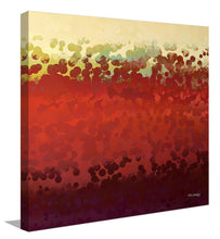 "Giclee Stretched Canvas Wall Art by Mark Lawrence ""Grace In My Sight. Exodus 33:12"",Canvas Art,Abstract,Mark Lawrence,All Artists,red art,Square Shape"