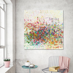 "Giclee Stretched Canvas Wall Art by Mark Lawrence ""Abundantly Pardoned. Isaiah 55:7"",Canvas Art,Abstract,Mark Lawrence,All Artists,multi-color art,Square Shape"