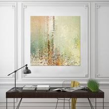 "Giclee Stretched Canvas Wall Art by Mark Lawrence ""The Right Kind Of Help. John 12:32"",Canvas Art,Abstract,Mark Lawrence,All Artists,beige art,Square Shape"