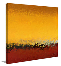 "Giclee Stretched Canvas Wall Art by Mark Lawrence ""Rejoice In Your Mercy. Psalm 31:7"",Canvas Art,Abstract,Mark Lawrence,All Artists,yellow art,Square Shape"
