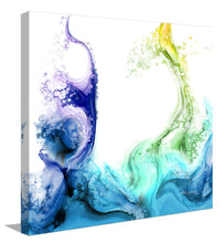 "Giclee Stretched Canvas Wall Art by Mark Lawrence ""Fountain Of The Water Of Life. Revelation 21:6"",Canvas Art,Abstract,Mark Lawrence,All Artists,white art,Square Shape"