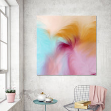 "Giclee Stretched Canvas Wall Art by Mark Lawrence ""Be Zealous. Revelation 3:19"",Canvas Art,Abstract,Mark Lawrence,All Artists,multi-color art,Square Shape"