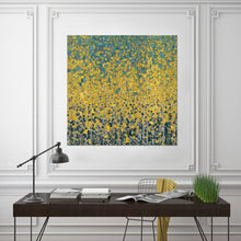 "Giclee Stretched Canvas Wall Art by Mark Lawrence ""Glory Forever. Romans 11:36"",Canvas Art,Abstract,Mark Lawrence,All Artists,yellow art,Square Shape"