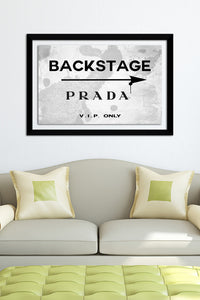 "BY Jodi ""Backstage Dior"" Framed Acrylic  Fashion Art"
