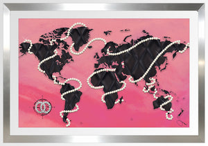 "BY Jodi ""Coco's World In Pink"" Framed Acrylic  Fashion Art"