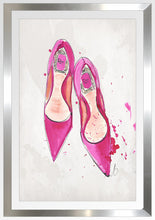 "BY Jodi ""A Pink Dior Shoes"" Framed Acrylic  Fashion Art"