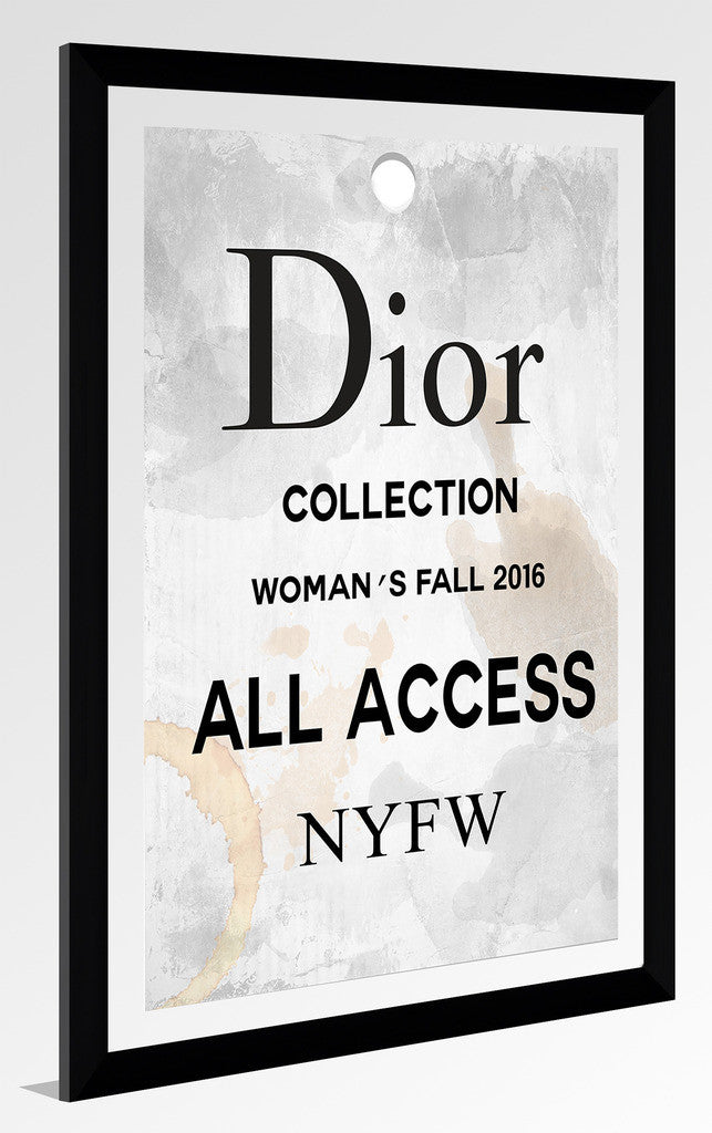 By Jodi Dior Pass Framed Acrylic Fashion Art Picture Perfect Int