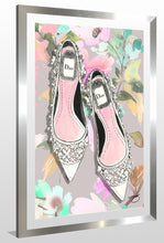 "BY Jodi ""Garden Party"" Framed Acrylic  Fashion Art Shoes"