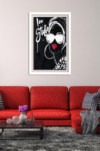 "BY Jodi ""In Style Black"" Framed Acrylic  Fashion Art"