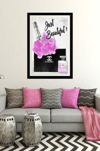 "BY Jodi ""Just Beautiful"" Framed Acrylic  Fashion Art"