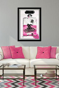 "BY Jodi ""No Way Out In Pink"" Framed Acrylic  Fashion Art"