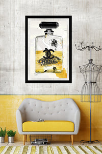 "BY Jodi ""No Way Out In Yellow"" Framed Acrylic  Fashion Art"