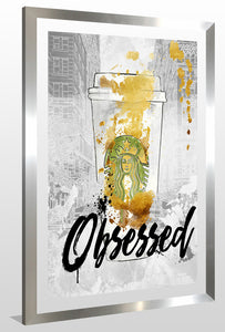 "BY Jodi ""Obsessed"" Framed Acrylic  Fashion Art"