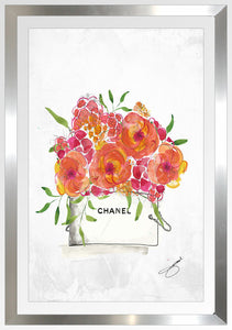 "BY Jodi ""Pedal Pusher"" Framed Acrylic Chanel Fashion Art"