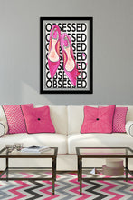"BY Jodi ""Pink Shoes Obsessed"" Framed Acrylic  Fashion Art"