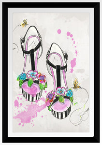 "BY Jodi ""Queen Bee"" Framed Acrylic  Fashion Art Shoes"