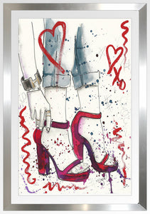 "BY Jodi ""Red Shoes"" Framed Acrylic  Fashion Art"