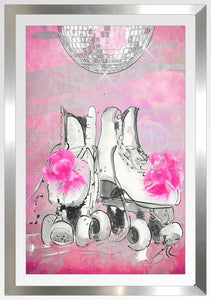 "BY Jodi ""Roller Princess"" Framed Acrylic  Fashion Art Shoe"