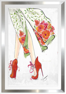 "BY Jodi ""Spring In The Air"" Framed Acrylic  Fashion Art shoes"