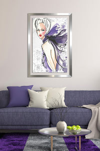 "BY Jodi ""Stay With Me"" Framed Acrylic  Fashion Art"