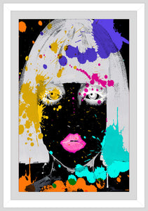 "BY Jodi ""Why So Negative 2"" Framed Acrylic  Fashion Art"