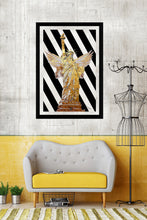 "BY Jodi ""Wings Of Liberty Gold"" Framed Acrylic  Fashion Art"