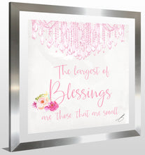 "BY Jodi ""Baby Blessings In Pink"" Framed Acrylic  Fashion Art"