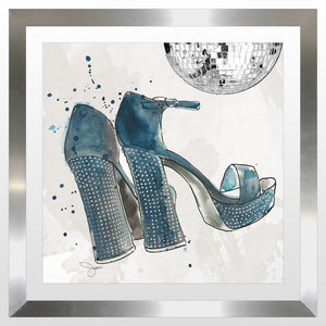 "BY Jodi ""Disco Queen"" Framed Acrylic  Fashion Art Shoes"