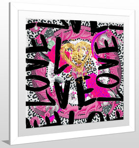 "BY Jodi ""Love Me In Pink"" Framed Acrylic  Fashion Art"