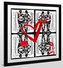 "BY Jodi ""Madame And Monsieur X 4"" Framed Acrylic  Fashion Art"