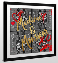 "BY Jodi ""Madame Monsieur In Black"" Framed Acrylic  Fashion Art"